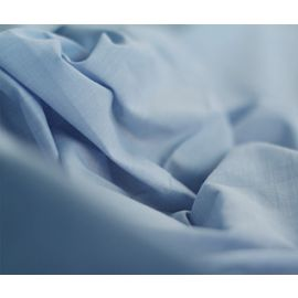 66x108-T180 Blue Twin Flat Sheet - Thomaston