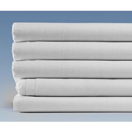 90x115-T180 White Queen XL Flat Sheet - Thomaston