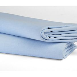 54x80x9-T180 Blue Full Fitted Sheet - Thomaston
