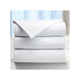 114x120-T250 White King Flat Stripe Sheet - Victoria