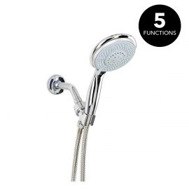 Shower Head 5 Functions - SS.HOSE+BRACKE