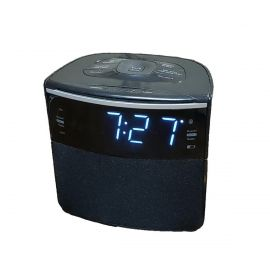 "Sonnet R-1428 0.9"" LED FM Clock Radio w/ Bluetooth Speaker & USB Charging Port"