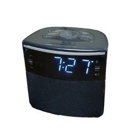 "Sonnet R-1428 0.9"" LED FM Clock Radio w/ Bluetooth Speaker & USB Charging Port"