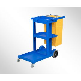 Janitorial Cleaning Cart w 3 shelves
