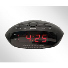 LED ALARM CLOCK w/ 2 USB Plugs (Model R-1634)