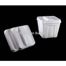Ice Bucket Lids Square - White