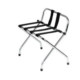 Luggage Rack Chrome Finish - With Back