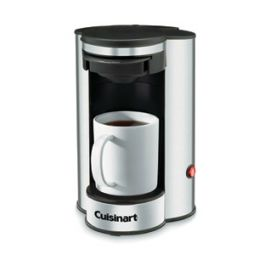 CUISINART® 1-Cup Coffee Maker - Black w/Stainless Steel Finish