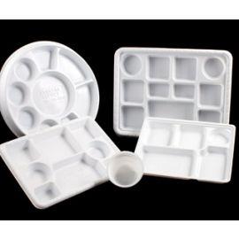 Plastic Plate - 5 Compartment