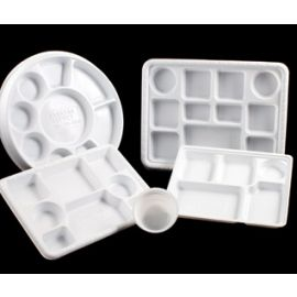 Plastic Plate - 9 Compartment