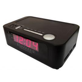 "Sonnet R-1212 0.9"" LED AM/FM Clock Radio w/ Wireless Bluetooth Charging Station & 2 USB Ports"