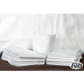66x115-T180 White Twin XXL Long Flat Sheet - Thomaston