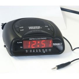 "Sonnet R-1662B MP3 0.6"" LED Clock Radio w/ MP3 Plug"