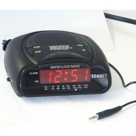 """Sonnet R-1662B MP3 0.6"""" LED Clock Radio w/ MP3 Plug"""
