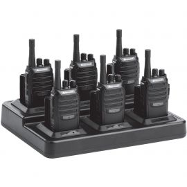 Two-Way 16 Channel Radio Bundle Pack, 6 BR200's w/ Gang Charger