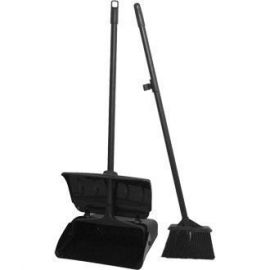 Lobby Dust Pan With Handle and Brush Set