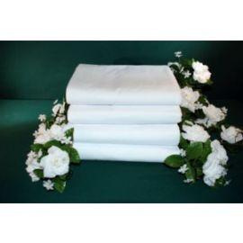 54x80x9-T200 White Full Fitted Sheet - Thomaston