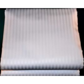 96x120-T310 White 19mm Stripe Queen XXL Flat Sheet - Thomaston
